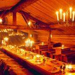 cena de gala en Laponia